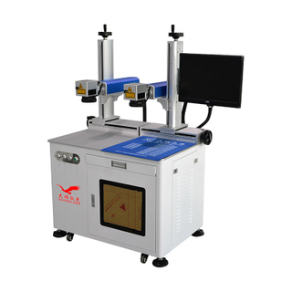 Two Heads Laser Marking Machine Saving Time